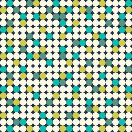 Seamless pattern with bright circles