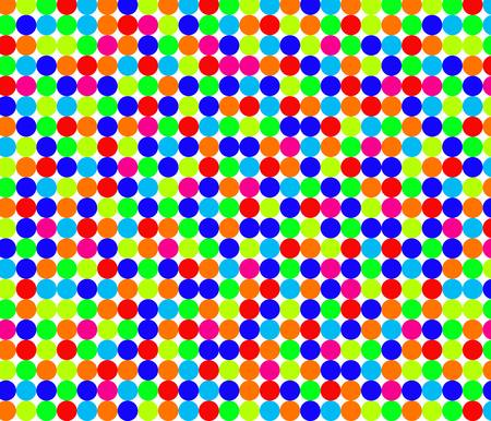 Seamless pattern with little bright circles