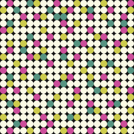 Seamless pattern with pink, yellow and green circles