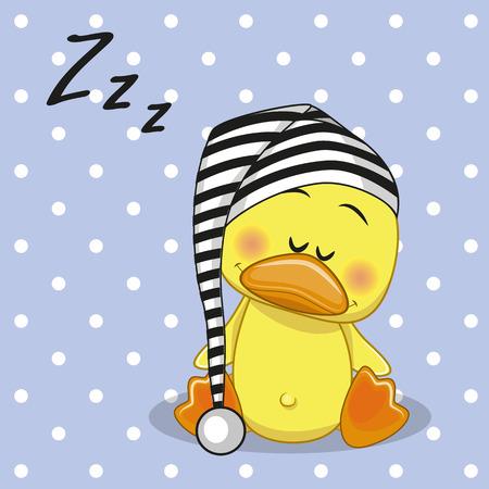 Sleeping Duck in a cap