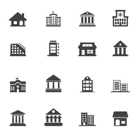 Foto de building icons set - vector architecture office buildings and architecture city urban real estate - Imagen libre de derechos