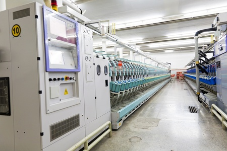 yarn spinning machine in textile factory