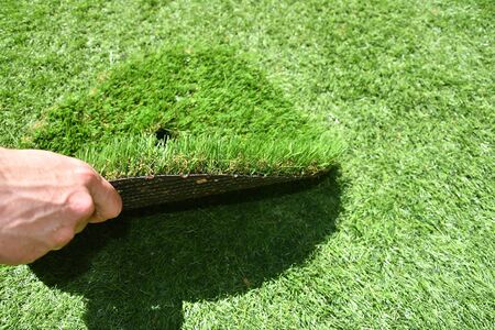 Foto per Piece of artificial grass - Immagine Royalty Free