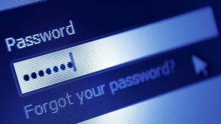 Photo pour Password box  in Internet Browser on Computer Screen - image libre de droit