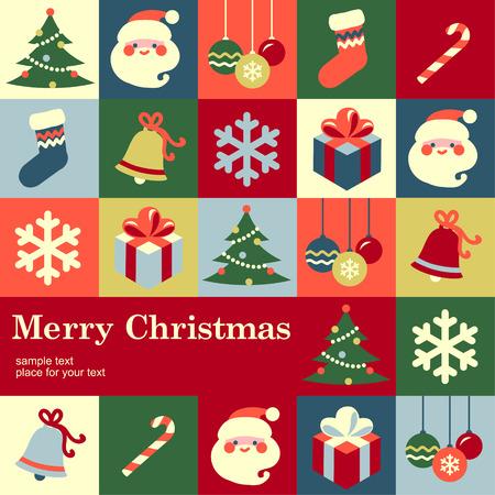 Ilustración de Christmas design template card  Vector background - Imagen libre de derechos