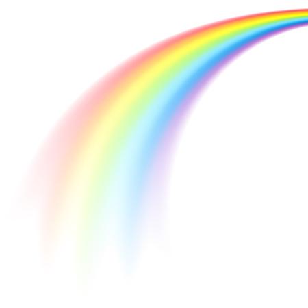 Ilustración de The picture of rainbow in perspective isolated on white background - Imagen libre de derechos