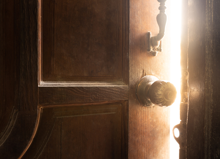 Photo for Old open door light - Royalty Free Image