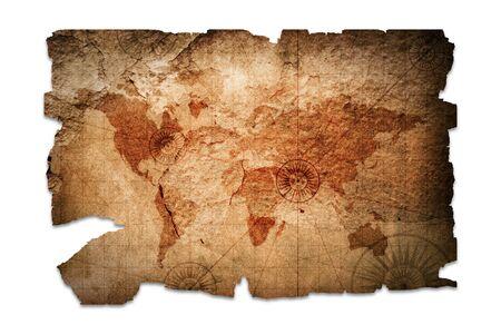 Photo pour Retro style old medieval nautical map isolated - image libre de droit