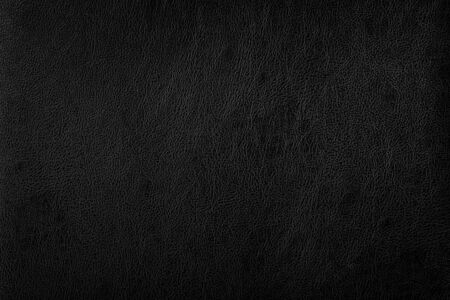Photo for Dark black leather sofa surface texture background - Royalty Free Image