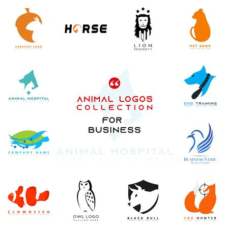 Illustration pour This is an animal shaped logo. This logo can be used for various businesses ranging from technologies such as logos on applications to businesses related to children and various other businesses. - image libre de droit