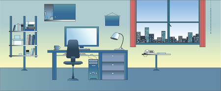 Vector illustration : Cabinet / Study / Office