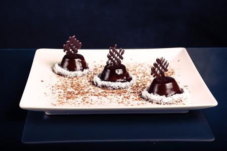 Freshly baked chocolate