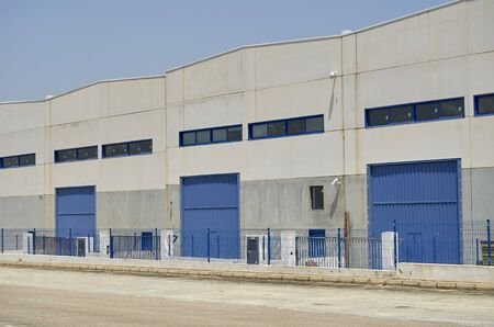 Photo for Exterior industrial warehouse - Royalty Free Image
