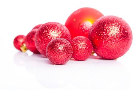 Chrismas red decoration on  white background