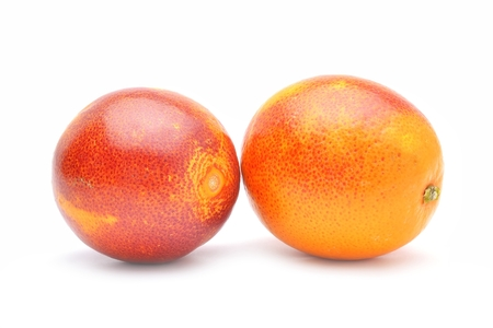red oranges isolated on white background
