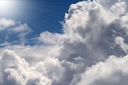 Beautiful Clouds With Shining Light