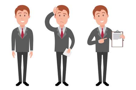 Illustration pour Manager character illustration - image libre de droit