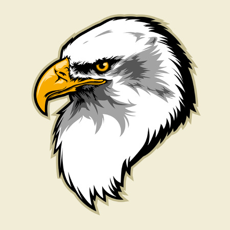 Illustration for eagle head - Royalty Free Image