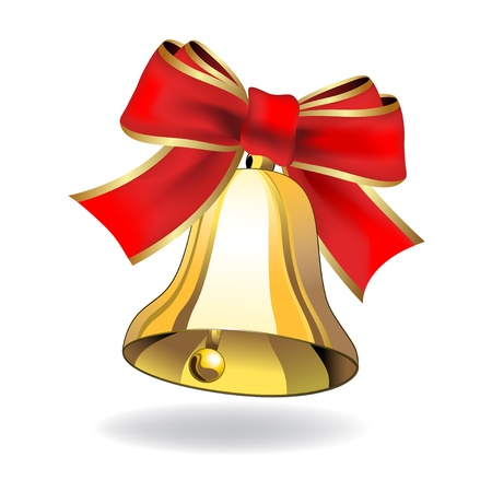 Vector bell with ribbon