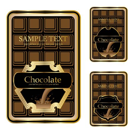 Vector chocolate labels