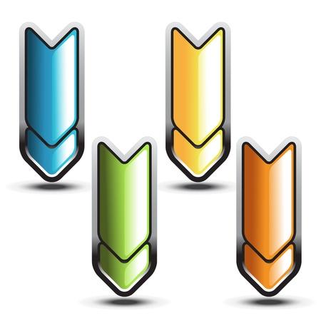 Vector arrows buttons