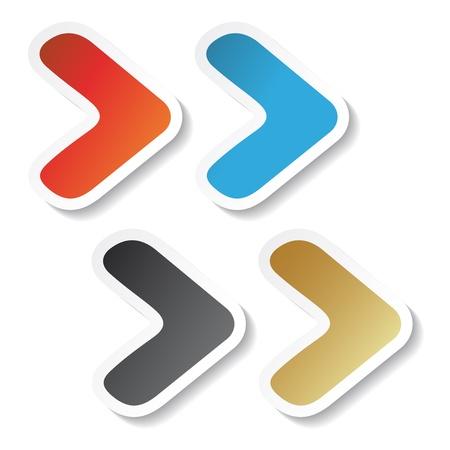 Vector arrow stickers