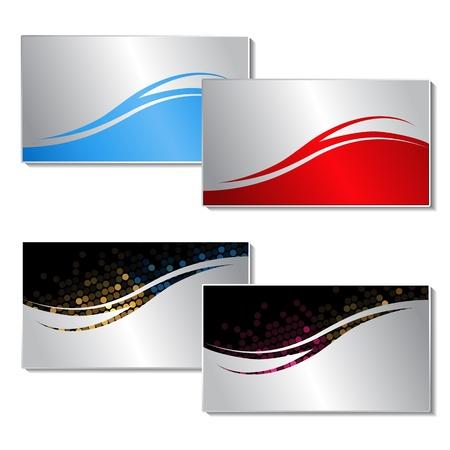 Illustration pour Vector business cards - image libre de droit