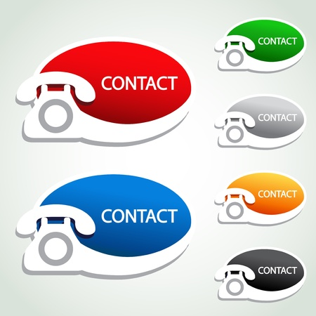 Vector phone stickers - contact icons