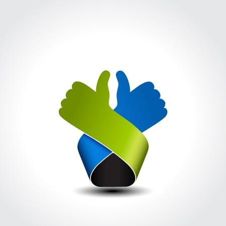 Illustration pour best choice symbol - hand gesture - illustration - image libre de droit