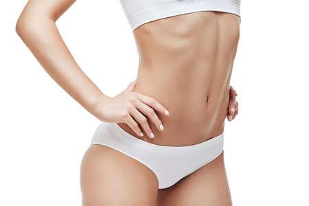 Photo pour womans torso close-up isolated on white background - image libre de droit