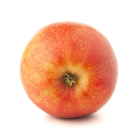 Photo for Red apple on a white background with a shadow. - Royalty Free Image