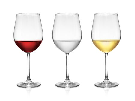 Foto de wine in a glass isolated on white background - Imagen libre de derechos