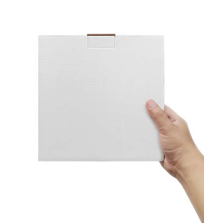 Photo for Box in hand on white background isolation - Royalty Free Image
