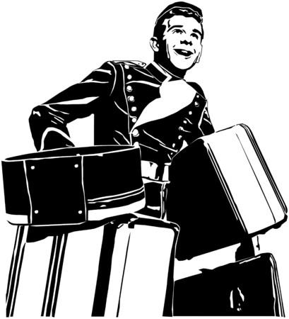 Illustration pour Bellhop - image libre de droit