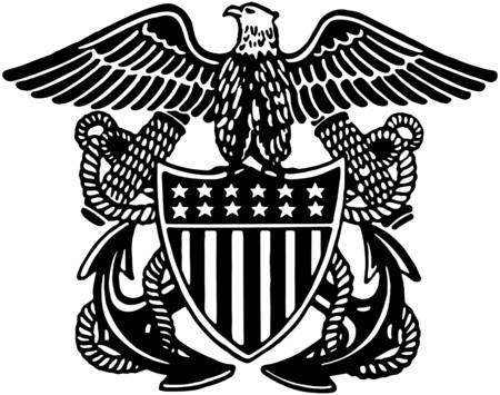 Illustration pour Navy Officer Crest - image libre de droit