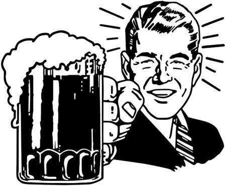 Foto de Retro Beer Guy - Imagen libre de derechos