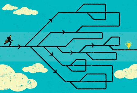 Illustration pour Career Path - image libre de droit