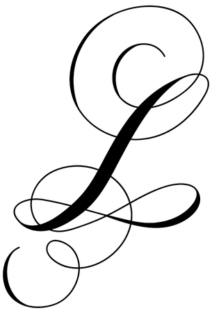 Calligraphy alphabet letter L