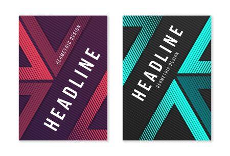 Ilustración de Modern abstract geometric a4 size cover designs for brochure mag - Imagen libre de derechos