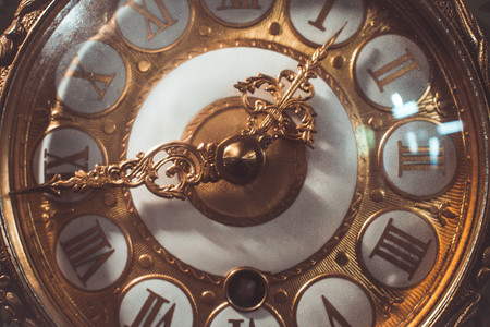 Photo pour old clock counting seconds - image libre de droit
