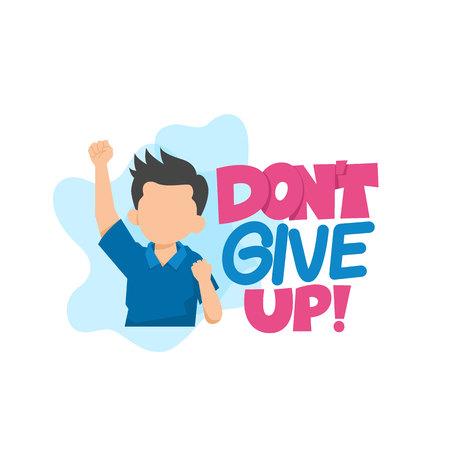 Illustration pour Don't Give Up Typography Vector Illustration - image libre de droit