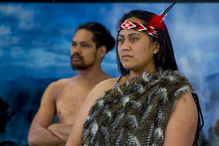 Foto de New Zealand native Maori portrait - Imagen libre de derechos