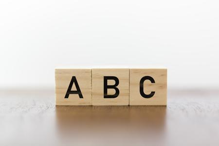 Foto de ABC written on wooden cubes - Imagen libre de derechos
