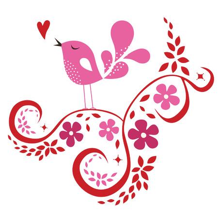 bird love card