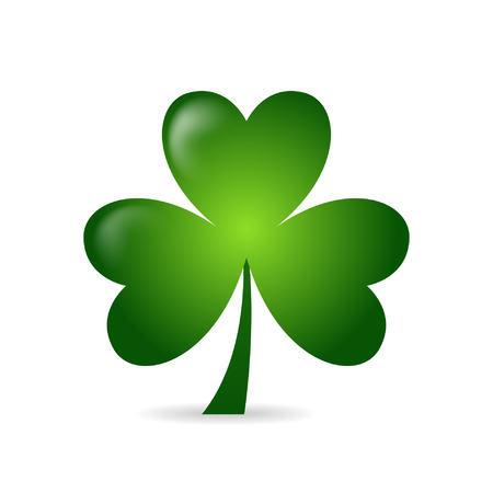 Illustration pour Irish shamrock ideal for St Patrick's Day isolated over white background - image libre de droit