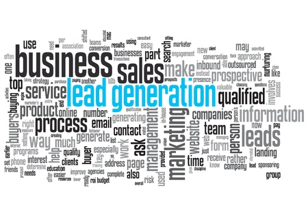 Lead Generation Concept Design Word Cloud on White Background