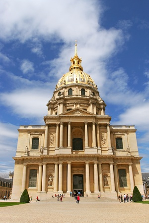 Vertical oriented photo of church at Les Invalides (L