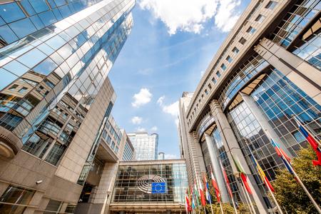 Foto de European parliament building in Brussels - Imagen libre de derechos