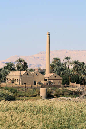Factory on west bank of River Nile, Luxor, Egypt