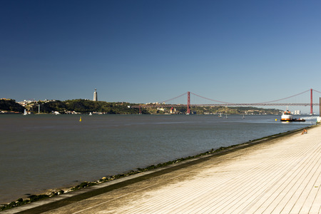River Tagus is the longest river in the Iberian Peninsula emptying into the Atlantic Ocean near Lisbon